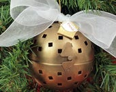 Vintage Brass Friendship Ball, Ornament, Gift Packaging, Pomander, Potpourri Vessel - FREE SHIPPING