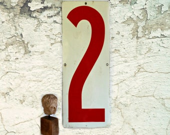 Vintage Industrial Numbers 2 and 8--Metal Gas Station Price Sign, oversized, metal memo board, industrial decor, urban loft