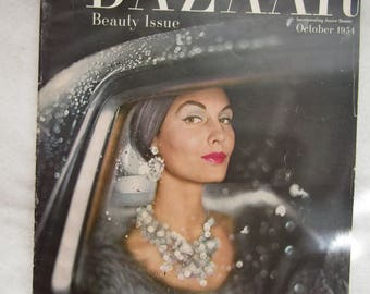 October 1954 BAZAAR Fashion MAGAZINE