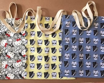 Tote Hello Kitty Tote Bag Starwar Blue and Yellow
