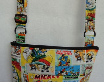 Adult Crossbody Bag: Mickey Comic