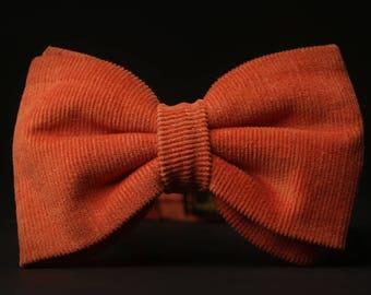 Corduroy Bow tie, Orange Bow tie
