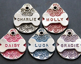 Personalized Pet Tag Pet ID Tag Dog ID Tag Custom Pet Tag Dog Name Tag Bone Dog Tag for Dog