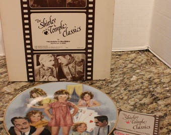 """Vintage """"The Shirley Temple Classics"""" Limited Edition Collector Plate Little Miss Marker"""
