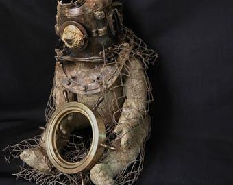 My little treasure hunter repurposed vintage doll