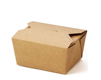 Take-Out Container, Kraft Paper, Small, Recycled Brown Kraft paper Boxes  , Lunch ,snacks ,cookies, gifts,