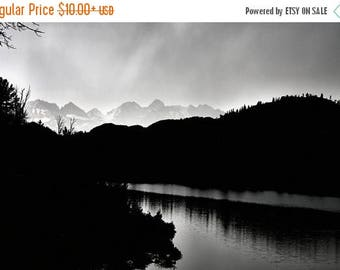 On Sale Hobbs Lake, Reflections, Black & White, Wind River, Wyoming