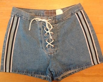 Vintage  size 9 tie up jean shorts