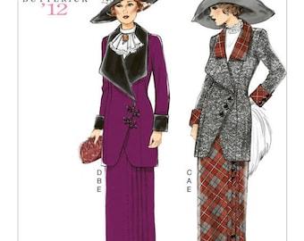 Butterick 6108 Misses Women's 1912 Edwardian Suit Jacket Skirt UNCUT--Sizes 6-14
