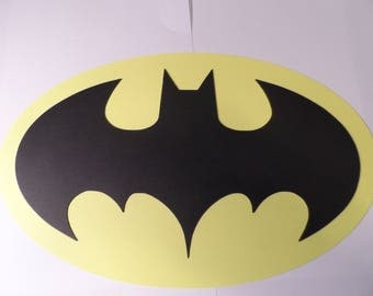 Batman die cut ~ symbol for scrapbooking, card making, and birthday party decorations.