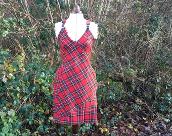 Royal Stewart Tartan Backless Dress