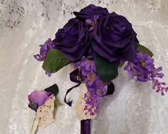 Shop for purple bouquet on Etsy