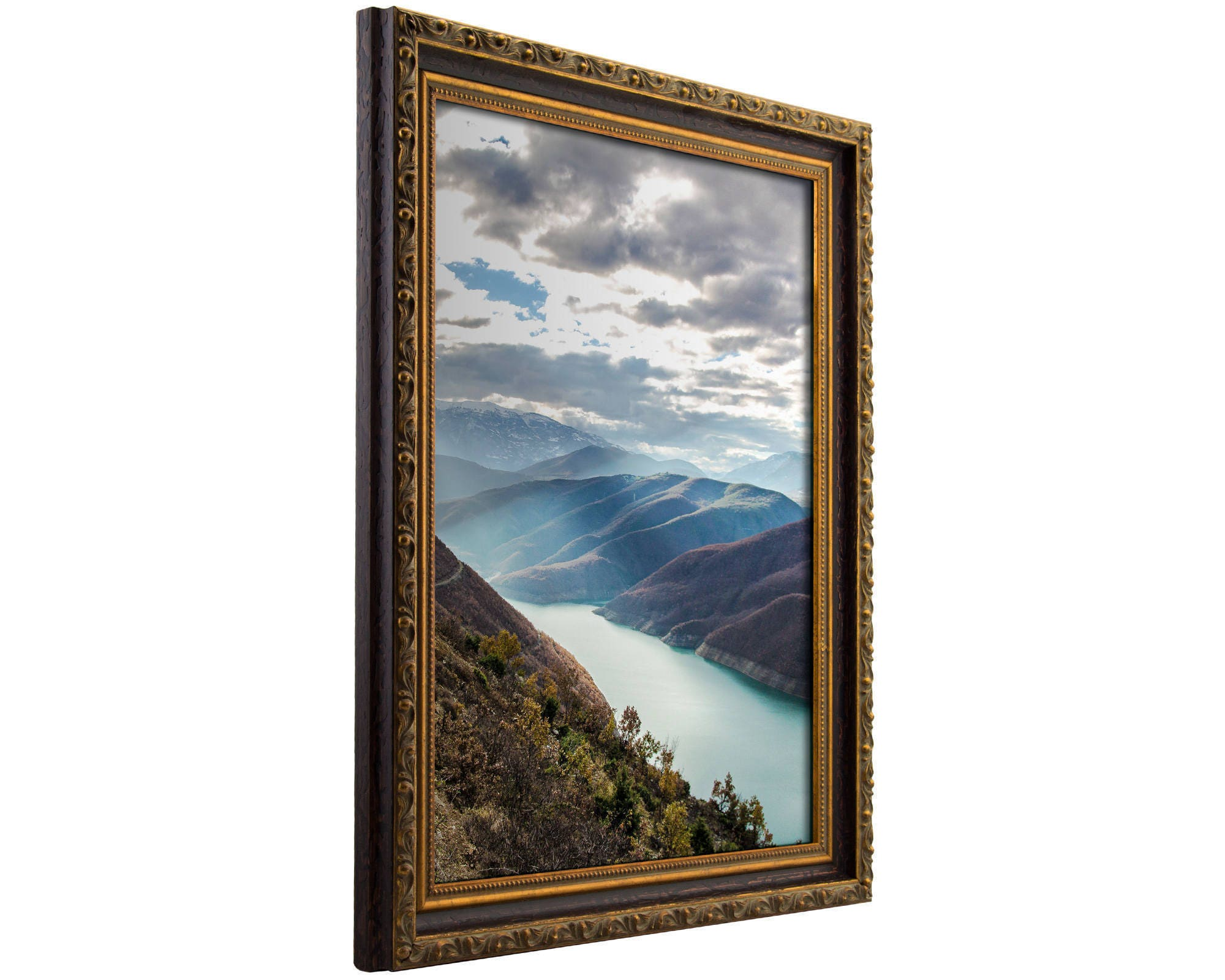 22 By 28 Frame: Craig Frames, 22x28 Inch Amber And Gold Ornate Picture