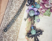 My Life Song Victorian vintage heirloom cross bookmark for bible, bookhook, Limited Edition of 5