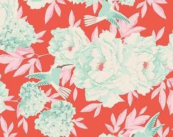Tilda - Lemon Tree Collection - Hummingbird Coral (100002) - 1 Yard
