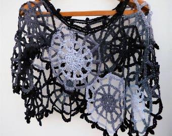 Poncho Women's Carnival Costume Women Gothic Halloween Clothing Charlotte's Web Halloween Costume Crochet Mesh Poncho Spider Web