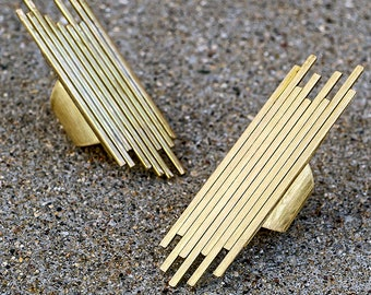 SHARDS STATEMENT RING - Brass