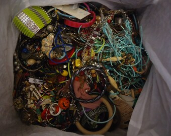 HUGE Lot of Mostly Broken Jewelry and Components for Re-purpose, Jewelry Design, Altered Art Projects, Repair, Crafting 17 Lb. 11 oz.