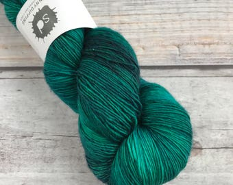 Merino Single by Skeinny Dipping in colorway Scarab