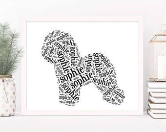 Custom Bichon Frise Art Print | Dog Lover Gifts Bichon | Custom Pet Wall Art | Bichon Frise Wall Decor | Personalized Dog Art | Pet Memorial