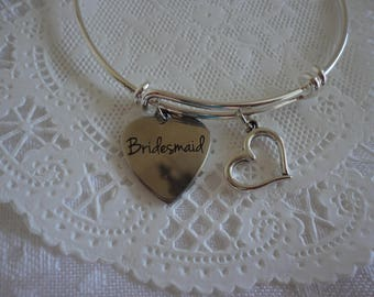 Bridesmaid Bracelet, Bangle Bracelet, Bridal Party Bracelet, Will you be Bridesmaid? Bridesmaid Gift Bracelet
