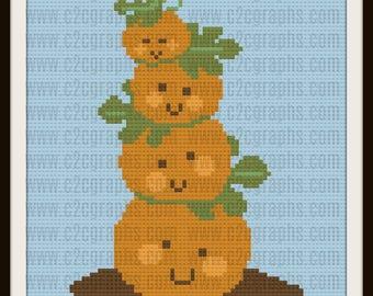 C2C Graph, Pumpkin Tower, C2C Graph,  Written Word Chart, pumpkin Graph, pumpkin C2C, pumpkin graph,