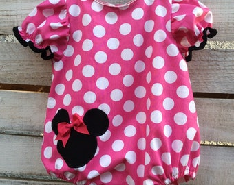 Minnie Mouse Romper, Minnie Mouse Bubble, Minnie Mouse Bubble Romper, Minnie Mouse Outfit