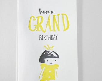 Happy Birthday Princess - LETTERPRESS CARD