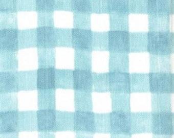 Mini Painted Gingham (Mist) - Double Gauze - Sarah Jane - Sommer - Michael Miller Fabrics - 1 Yard