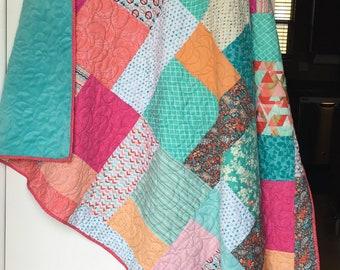 Handmade Turning twenty-one quilt