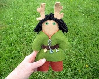 Cernunnos Poppet - Herne the Hunter Doll, Voodoo Doll, Juju Doll, Spirit Doll, Altar Doll
