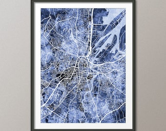 Belfast Map, Belfast Northern Ireland City Map, Art Print (3491)