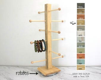 Rotating Bracelet Display, Rotating Jewelry Display, Rotating Retail Store Fixtures, Bracelet Stand Organizer, Craft Show Display