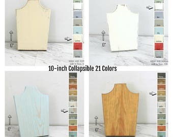 Collapsible Necklace Displays, Necklace Busts 10-inches, Necklace Stands Holders, White Jewelry Displays, Retail Displays, Craft Shows