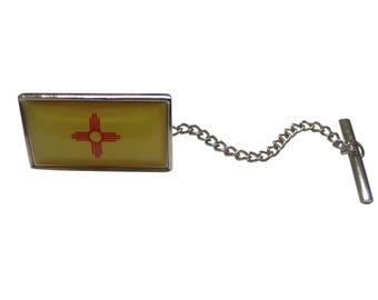 New Mexico State Flag Tie Tack