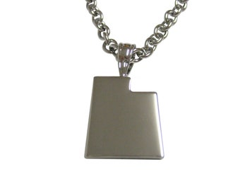 Utah State Map Shape Pendant Necklace