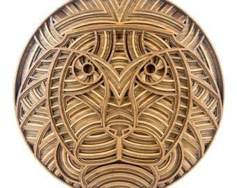"""Layered 3D Wood Art - """"Lambert the Lion"""" - Version A - Nursery Wall Artwork"""