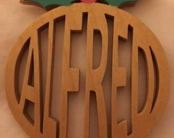 Personalized Wooden Christmas Ornament....Any name....Get one for the whole family!!