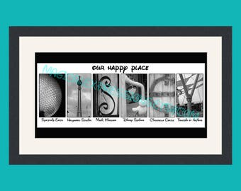 DISNEY Art Print - My / Our Happy Place - The Ultimate Disney Fan Gift