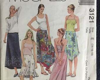 McCalls Misses Womens Skirts  Sewing Pattern 3121 UC Uncut FF Size 14 16 18