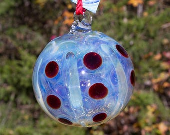 OOAK Hand blown Borosilicate Glass Christmas ornament 182