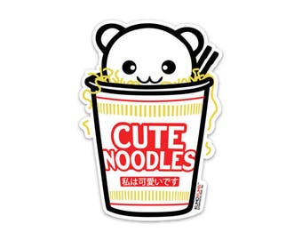 Cute Noodles Sticker