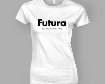 Futura / Graphic Design T-Shirt (Womens Fitted)
