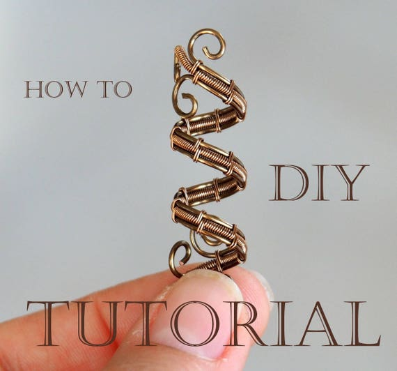 Tutorial Wire weaving Dread bead Wire wrapping Wrapped How to make DIY Step by step instructions Lesson PDF format Instant Download file