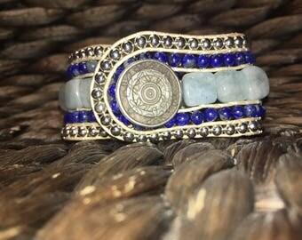 5 row cuff bracelet