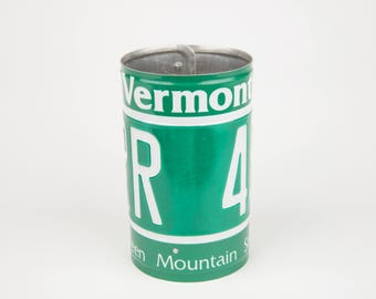 Vermont License Plate Pencil Holder - Teacher Gift - Father's Day gift - Graduation gift - Gift for Moms Dads and Grads - Vermont Souvenir