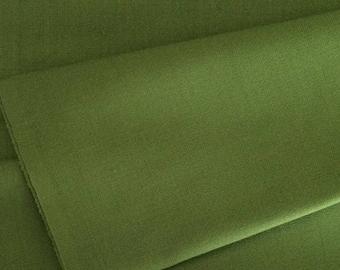 Wool Fabric / Green Wool Fabric / Olive Green Wool Fabric / Wool Sewing Material / Wool Suiting / Green Wool Suiting Fabric / Olive Green