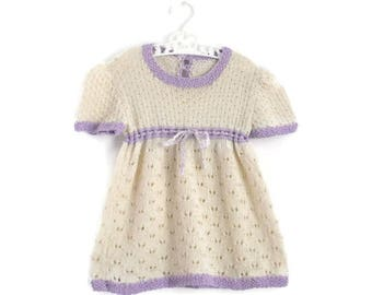 Baby Dress, Vintage Baby Dress, Crochet Baby Dress, Baby Girl Clothes, Baby Girl Dress
