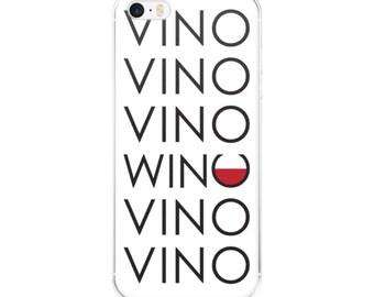 Vino Vino Wino Vino iPhone Cell Phone Case - 5/5s/Se, 6/6s, 6/6s Plus or 7/7 Plus