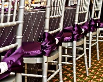 Custom order 30 CLEARANCE Purple Chiavari Chair Covers Real Rhinestone Wrap/ Chiavari Chair Covers